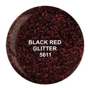 Dip System puder kolorowy Black Red Glitter 14 g 5611