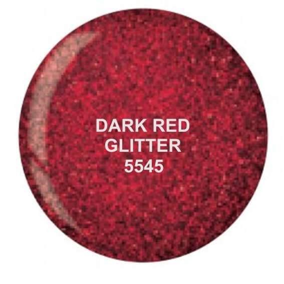 Dip System puder kolorowy Dark Red Glitter 14 g 5545