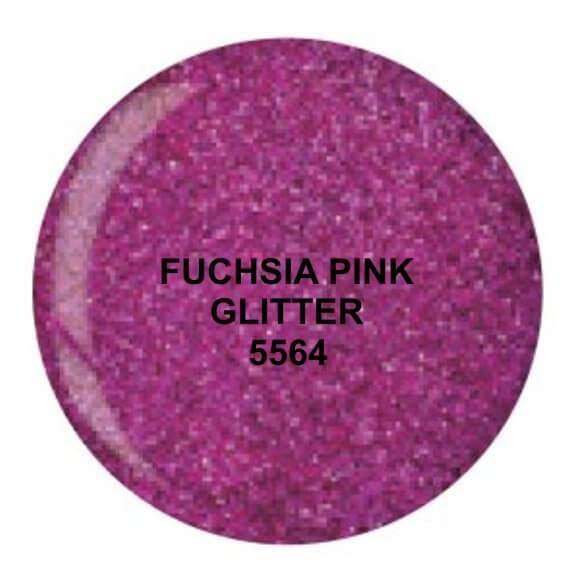 Dip System puder kolorowy Fuchsia Pink Glitter 15 g 5564