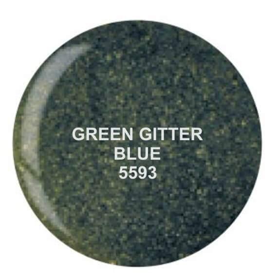 Dip System puder kolorowy Green Glitter Blue 14 g 5593