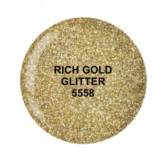 Dip System puder kolorowy Rich Gold Glitter 15 g 5558