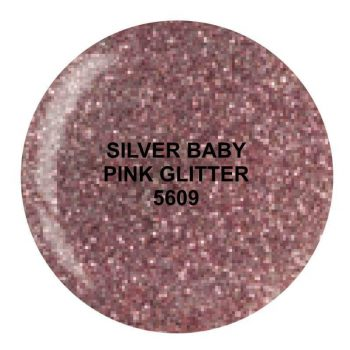 Dip System puder kolorowy Silver Baby Pink Glitter 14 g 5609